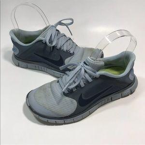 Nike Free Run 4.0 2013 Gray Running Sneakers
